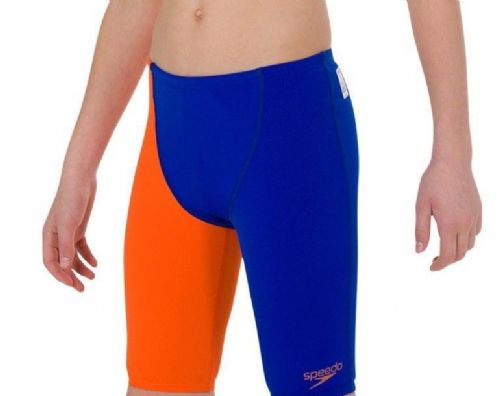 SPEEDO BOYS FASTSKIN JAMMERS.NEW ENDURANCE+ BLUE SWIMMING SHORTS SWIMMERS 8W 612